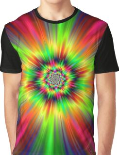 Psychedelic Star Burst Graphic T-Shirt