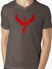 Pokemon GO: Team Valor - Clean (Red Team) Mens V-Neck T-Shirt