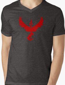 Pokemon GO: Team Valor - Clean (Red Team) Mens V-Neck T-Shirt