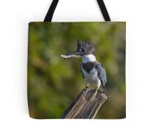 Fish on! - Belted Kingfisher Tote Bag