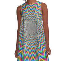 Eye Boggling Rosette A-Line Dress
