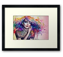 Artist Woman - Trippy Collection Framed Print