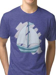 paper sailing boat, yacht Tri-blend T-Shirt