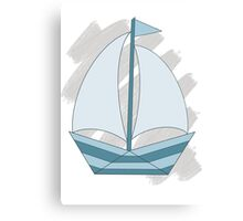 paper sailing boat, yacht Canvas Print