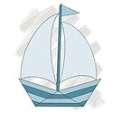 paper sailing boat, yacht by Michelle *