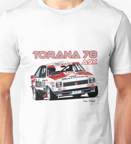 Holden A9X Torana, Peter Brock Design Unisex T-Shirt
