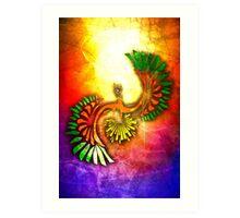 Tribal HoOh Art Print