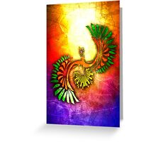 Tribal HoOh Greeting Card