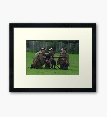 Vickers Machine Gun Crew Framed Print