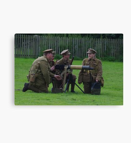 Vickers Machine Gun Crew Canvas Print