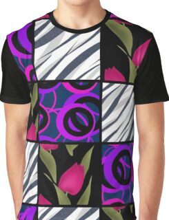 Patchwork seamless floral pattern texture background with tulips Graphic T-Shirt