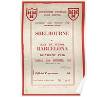 SHELBOURNE VS BARCELONA - PROGRAMME COVER  Poster