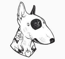 Tattooed Bullterrier One Piece - Short Sleeve