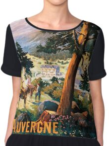 Auvergne, French Travel Poster Chiffon Top