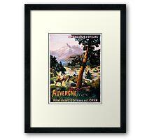 Auvergne, French Travel Poster Framed Print