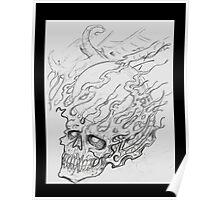 Exploding Crystal Skull Poster