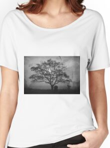 Landscape On Adobe Wall BW Women's Relaxed Fit T-Shirt