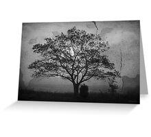 Landscape On Adobe Wall BW Greeting Card