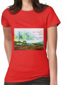 Birds line up Womens Fitted T-Shirt