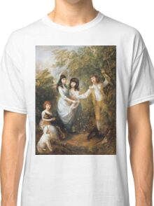 Thomas Gainsborough - The Marsham Children 1787. Children portrait: Children, cute girls, child, nature, beautiful dress, face with hairs, smile, little, kids, dogs, weekend Classic T-Shirt