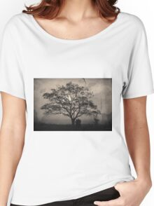 Landscape On Adobe Wall Toned Women's Relaxed Fit T-Shirt