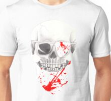 Skull with Blood Spattered Bandanna and Eye Patch Unisex T-Shirt