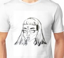 Inked Girl Head Unisex T-Shirt