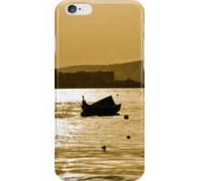 Sunset over the harbour iPhone Case/Skin