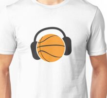 Basketball with musical headphones Unisex T-Shirt
