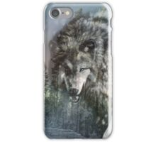 Wolf in the snow iPhone Case/Skin