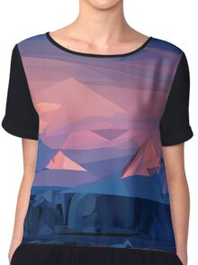 Mountain Sunset Chiffon Top