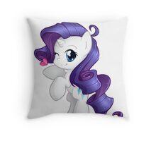 Chibi Rarity Throw Pillow