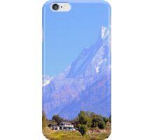 Nepal village on Annapurna Basecamp Trek iPhone Case/Skin