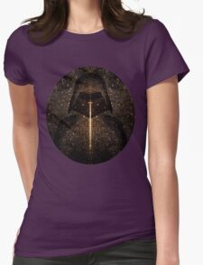 Force of light through the dark side Womens Fitted T-Shirt