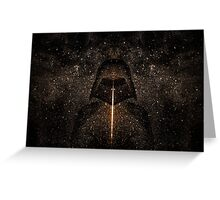 Force of light through the dark side Greeting Card