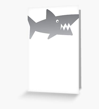 GREY Shark teeth hungry Greeting Card