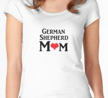 German Shepherd Mom Women's Fitted Scoop T-Shirt