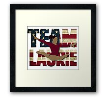 Team Laurie Hernandez - USA  Framed Print