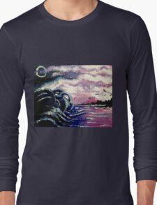 Kraken Waves Rolling In  Long Sleeve T-Shirt