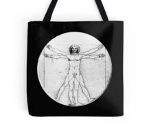 LEONARDO, Da Vinci, The Vitruvian Man, Naked, CIRCLE, c.1485, Accademia, Venice, BLACK Tote Bag
