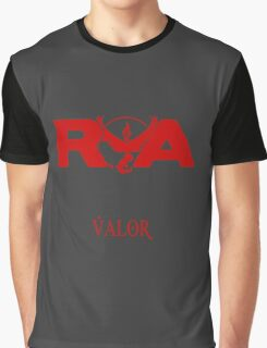 Team Valor RVA with Team Name Graphic T-Shirt
