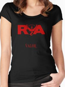 Team Valor RVA with Team Name Women's Fitted Scoop T-Shirt
