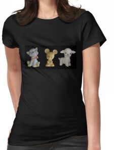 Kitty Mousie Lambie Womens Fitted T-Shirt