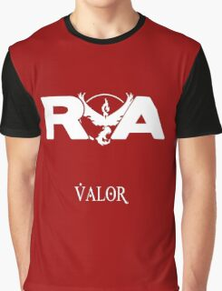 Team Valor RVA - White on Red Version Graphic T-Shirt