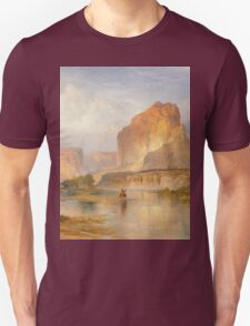 Thomas Moran - Cliffs Of Green River. Mountains landscape: mountains, rocks, rocky nature, sky and clouds, trees, peak, forest, Canyon, hill, travel, hillside Unisex T-Shirt