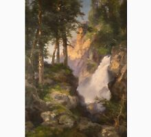 Thomas Moran - Falls At Toltec Gorge. Mountains landscape: mountains, rocks, rocky nature, sky and clouds, trees, peak, forest, Canyon, hill, travel, hillside Unisex T-Shirt
