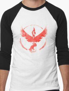 Team Valor grunge red Men's Baseball ¾ T-Shirt