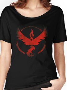 Team Valor grunge red Women's Relaxed Fit T-Shirt
