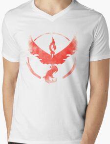 Team Valor grunge red Mens V-Neck T-Shirt