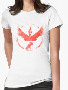 Team Valor grunge red Womens Fitted T-Shirt
